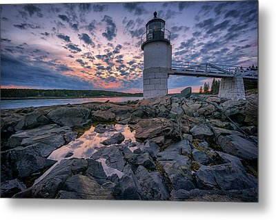 Sunset At Marshall Point Metal Print by Rick Berk