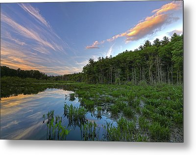 Sunset At Mass Audubon's Broadmoor Wildlife Sanctuary Metal Print
