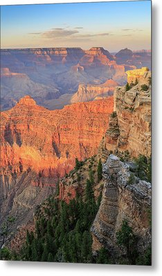 Metal Print featuring the photograph Sunset At Mather Point by David Chandler