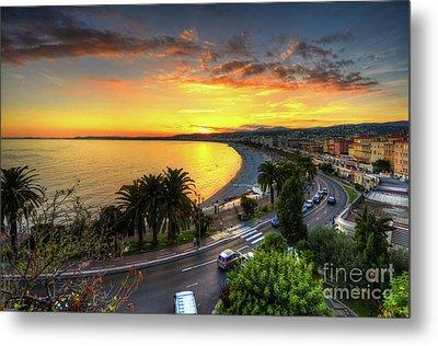 Sunset At Nice Metal Print by Yhun Suarez