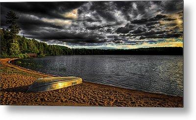 Sunset At Nicks Lake Metal Print by David Patterson