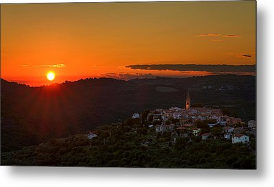 Sunset At Padna Metal Print