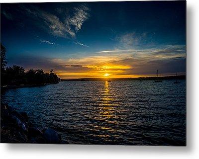 Sunset At Penn Cove Metal Print by TL  Mair