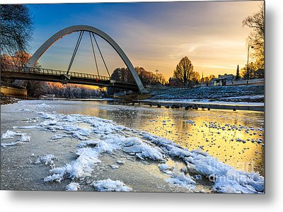 Sunset At Riverside Metal Print by Mario Mesi