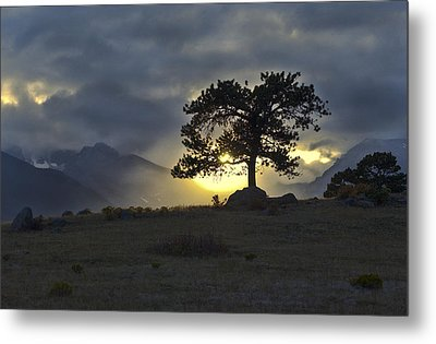 Sunset At Rocky Mountain Park Co Metal Print by James Steele