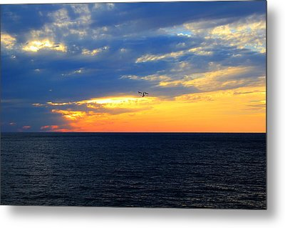 Metal Print featuring the photograph Sunset At Sail Away by Shelley Neff
