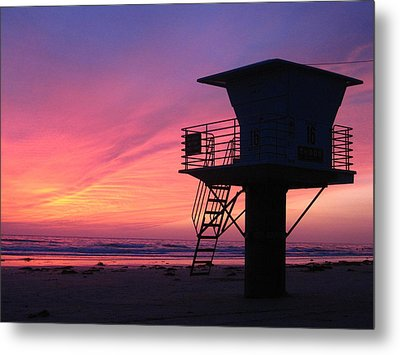 Sunset At San Elijo Metal Print by Eric Foltz
