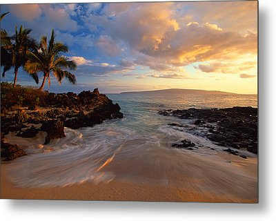Sunset At Secret Beach Metal Print