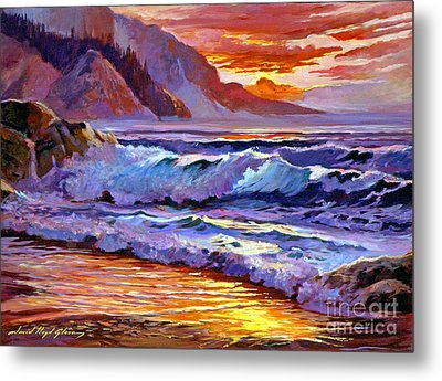 Sunset At Shipwreck Beach Metal Print by David Lloyd Glover