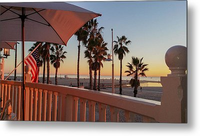 Sunset At Shutters Metal Print