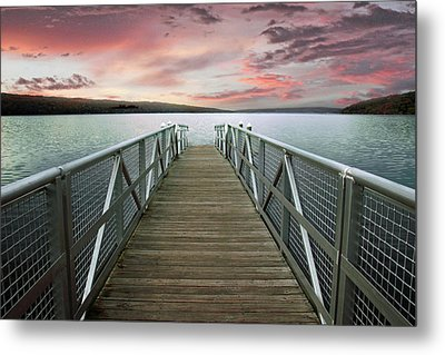 Sunset At Stewart Park Metal Print by Jessica Jenney