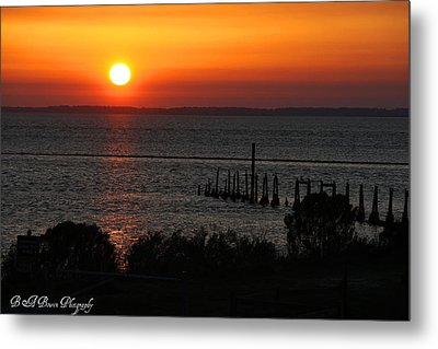 Metal Print featuring the photograph Sunset At St.marks Nwf by Barbara Bowen