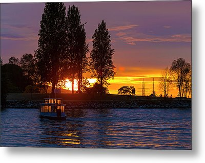 Sunset At Sunset Beach In Vancouver Bc Metal Print