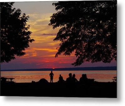 Sunset At Sylvan Beach Metal Print