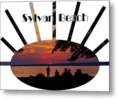 Sunset At Sylvan Beach - T-shirt Metal Print