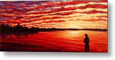 Sunset At The Bay Metal Print by Douglas Keil