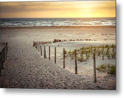 Metal Print featuring the photograph Sunset At The Beach by Hannes Cmarits