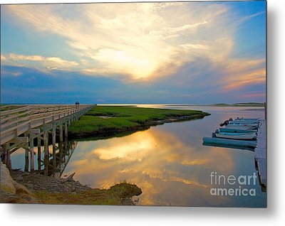 Sunset At The Boardwalk Metal Print by Amazing Jules