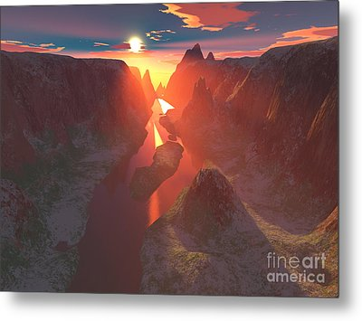 Sunset At The Canyon Metal Print by Gaspar Avila