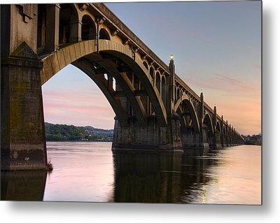 Sunset At The Columbia - Wrightsville Bridge Metal Print by Dan Myers