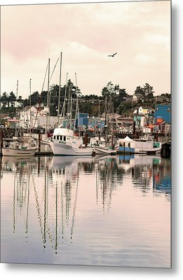 Sunset At The Marina Metal Print by Diane Schuster