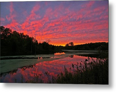 Sunset At The Pond Metal Print by Ulrich Burkhalter