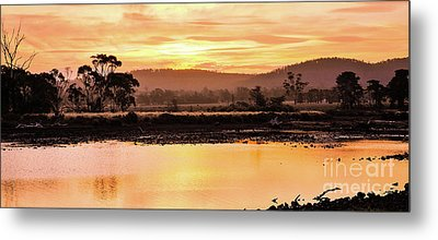 Sunset At Triabunna Tasmania Metal Print by Lexa Harpell