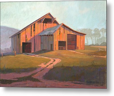 Sunset Barn Metal Print by Michael Humphries