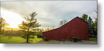 Sunset Barn Warren Co Oh Metal Print