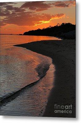 Sunset Bay Metal Print by Lori Mellen-Pagliaro