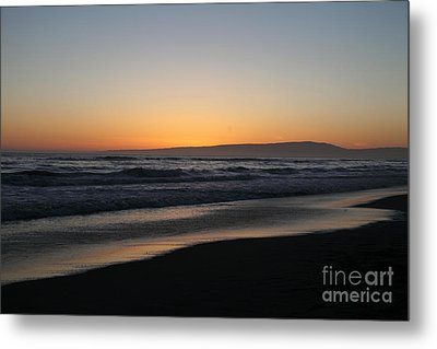 Sunset Beach California Metal Print by Amanda Barcon