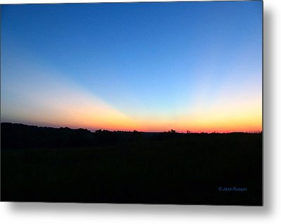Metal Print featuring the digital art Sunset Blue by Jana Russon