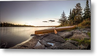 Sunset // Boundary Waters Canoe Area, Minnesota  Metal Print by Nicholas Parker