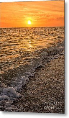 Sunset Bowman Beach Sanibel Island Florida  Metal Print