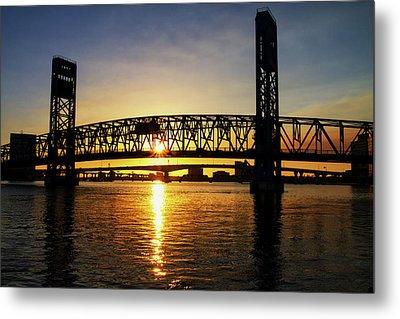 Sunset Bridge 1 Metal Print by Arthur Dodd