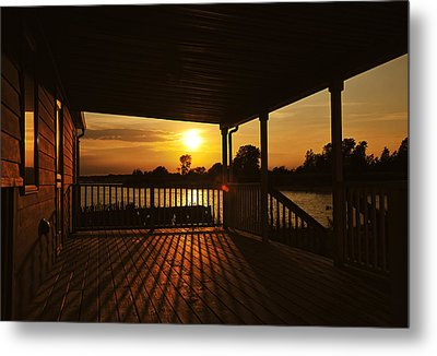 Metal Print featuring the photograph Sunset By The Beach by Angel Cher