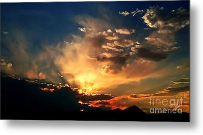 Sunset Of The End Of June Metal Print by Zedi