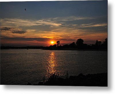 Metal Print featuring the photograph Sunset By The Inlet by Angel Cher