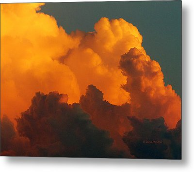 Metal Print featuring the digital art Sunset Clouds by Jana Russon