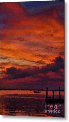 Sunset Cruise  Metal Print by Dave Bosse