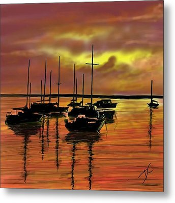 Metal Print featuring the digital art Sunset by Darren Cannell