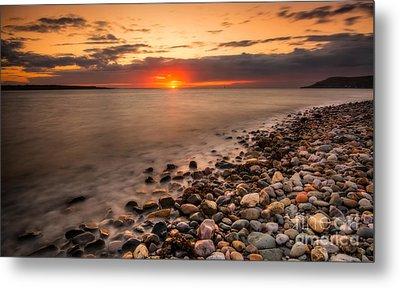 Sunset Deganwy Beach Metal Print by Adrian Evans