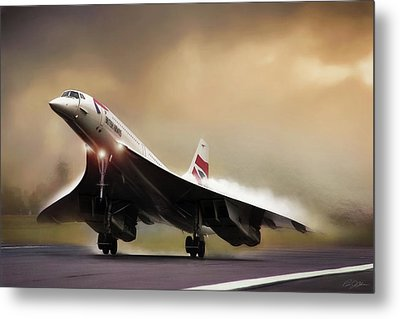 Sunset Departure Metal Print by Peter Chilelli