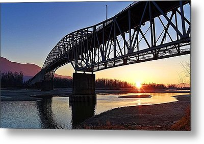 Fraser River, Bc  Metal Print by Heather Vopni