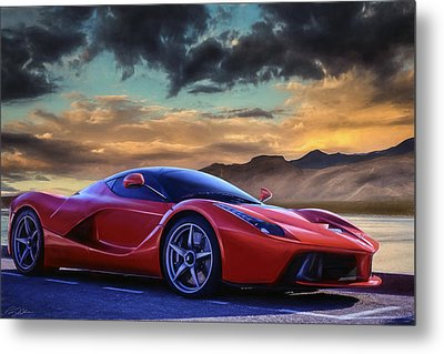 Sunset Drive Metal Print by Peter Chilelli