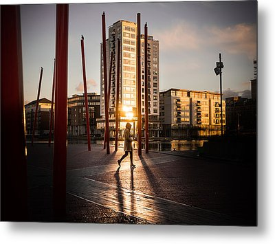 Sunset - Dublin, Ireland - Color Street Photography Metal Print by Giuseppe Milo