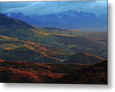 Metal Print featuring the photograph Sunset During Autumn Below The San Juan Mountains In Colorado by Jetson Nguyen
