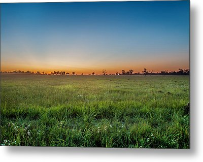 Sunset Fields Metal Print by Az Jackson