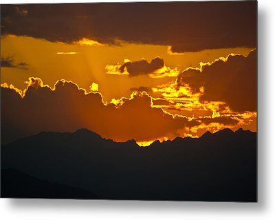 Metal Print featuring the photograph Sunset Fire by Colleen Coccia