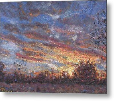 Sunset Fires Metal Print by Horacio Prada